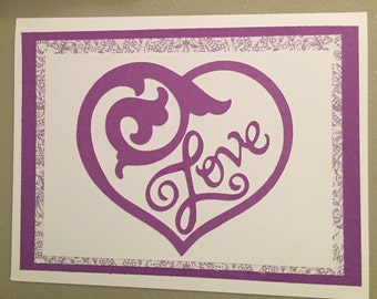 Anniversary, Valentine , Love card (Item No. 0205)