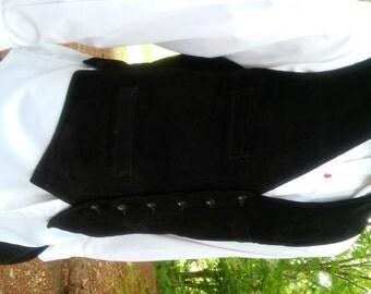 Leather Suede Vest  // Gap Fashion // Men's Clothing // Black