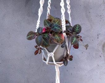 Macrame Plant Hanger Beads/ Natural Cotton Ecru Color/ Home Decor/ Garden Decor /Office Decor/ Gift her