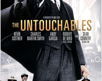 The Untouchables Movie Poster Kevin Costner Sean Connery Crime Drama 24x36