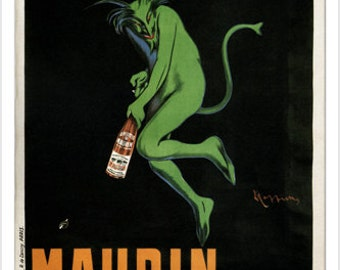 Maurin Quina Vintage Ad Poster Leonetto Cappiello France 1906 24x36 Cool Art