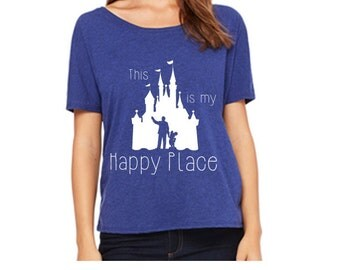 Disney Shirts This is my Happy Place Shirt Disneyland Shirt Disney World Shirt Magic Kingdom Shirt Disney Castle Shirt