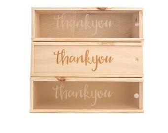 Wooden Wine Box (single) - Thank you #1