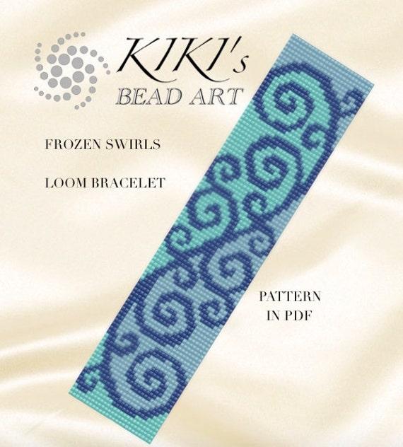 bead loom pattern frozen swirls loom bracelet pdf pattern