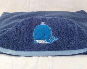 Hooded Whale Bath Towel