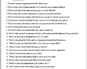 Presidents Trivia