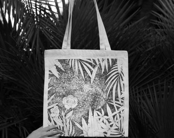 Leaf Bag, Leaf Tote Bag, Tote Bag, Floral Bag, Floral Tote Bag, Canvas Bag, Canvas Tote Bag, Tote Bag Canvas, Cotton Bag