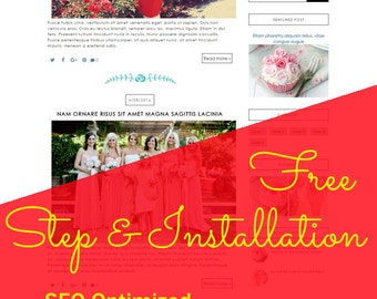Premade Blogger Template responsive lifestyle fashion beauty food travel makeup feminine blog theme - Anahita ( Free Installation )