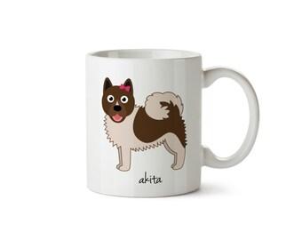 Akita Mug (girl)