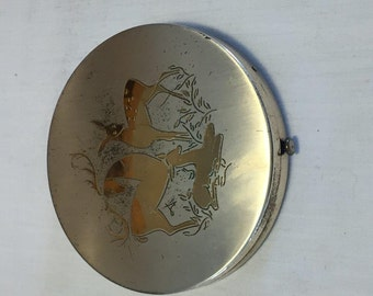 Large Compact with Deer Motif and Marjolet Small Compact