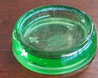 Vasoline glass furniture floor protector or casters set of 4 uranium green glass