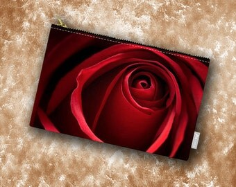 Red Rose Carry All Pouch