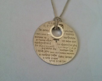 Necklaces I LOVE YOU in 23 languages Sterling Silver