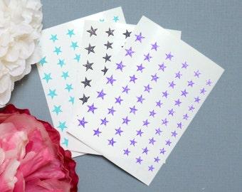 Stars Glitter Vinyl Nail Decals