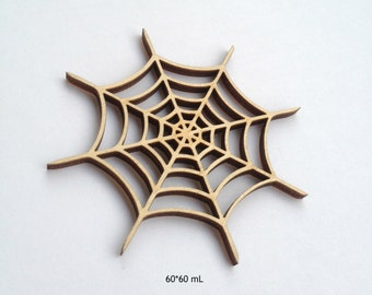 Accurate laser cut wood SPIDER WEB for Halloween decor / Spider web / Halloween / Laser cut wood / Halloween decor / Halloween decorations