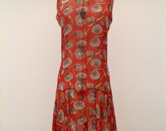Pretty 1920s floral chiffon flapper dress original vintage antique 1920s Gatsby