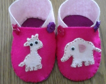 Handmade baby shoes size 3-6 months