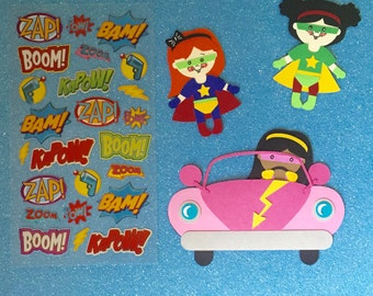 Supergirl Scrapbooking Kit ! Supergirl Scrapbook embellishments!