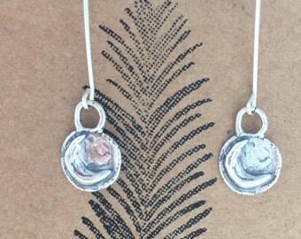 Silver Moon, Celestial Drop Earrings