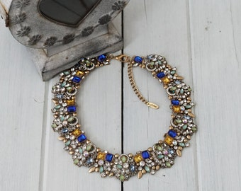 Colourful Statement Bib Necklace