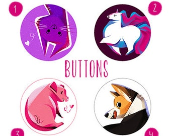 Buttons - 4 different visual