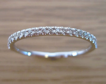 Classic Diamond Eternity Band, Eternity Wedding Band, Diamond Wedding Ring, Diamond Wedding Band, Diamond Anniversary Ring, Promise Ring