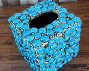 beaded tissue box etsy