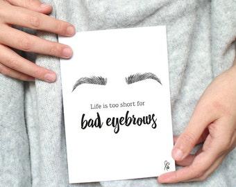 Printable / Postcard Beauty / Eyebrows