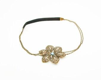 DIY headband blue head KHB02 jewelry