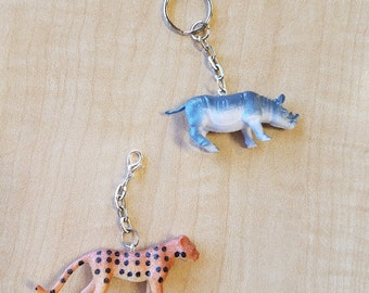 10 Pieces - Realistic 3D Wild Animal Party Favor - Zipper Pulls