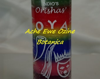 OYA Orisha,7 Color, Candle, Warrior Goddess,Santeria