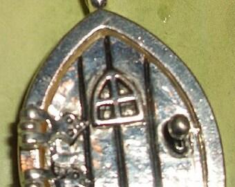 Sale Pendant/Medallion elf or Hobbit Door (Spitz)-Altsilbern-24x34mm-was Euro 7.50