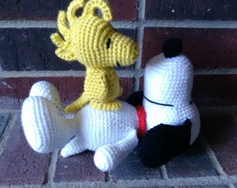 Snoopy and Woodstock Amigurumi- set or individual
