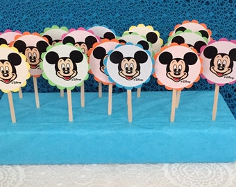 Mickey Mouse ~ Cupcake Toppers ~ set of 15