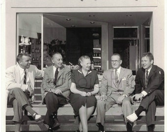 Vintage Photograph of California Store Front with Gentlemen and Lady