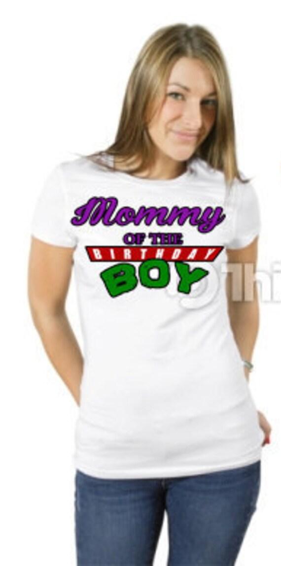 Ninja turtles birthday shirts family by customelementdesigns for Where can i buy ninja turtle shirts