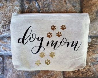 Dog Mom Make Up Pouch