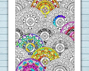 Printable Mandala Pattern Coloring Page