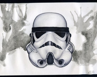 Stormtrooper Drawing PRINTS