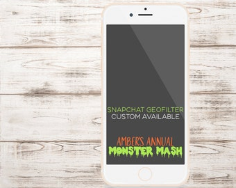 HALLOWEEN SNAPCHAT GEOFILTER, Custom Snapchat Geofilter, Halloween Party, Halloween Party Decorations, Halloween, Monster Mash