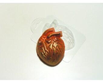 Anatomical heart soap, plastic mold, heart mold, anatomical heart mold, romantic mold, soap mold, heart soap, heart soap molds