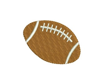 Rugby embroidery design - Fill stitch mini football embroidery  - Rugby ball embroidery - Machine embroidery - Instant download - 5 SIZE