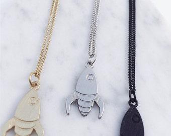Rocket ship Necklace