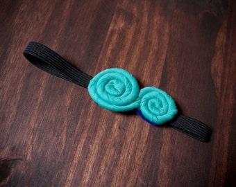 Turquoise Twist Baby Headband
