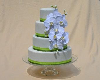 Handmade Cake Topper, Wedding Cake Topper, Kuchendekoration, Cake Decoration, Clay Flowers