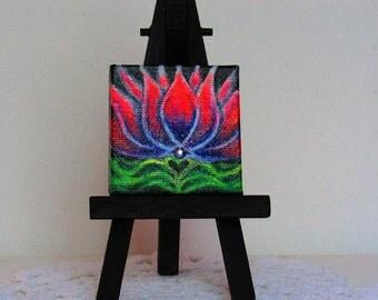 Tiny Lotus painting