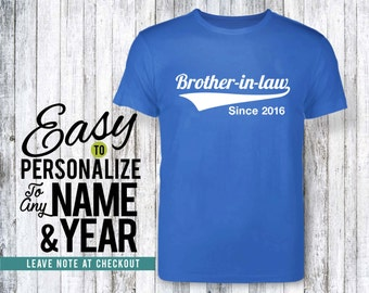 Brother-in-law gift, family, family shirt, birthday shirt, birthday gift, personalized gift, tshirt, shirt, birthday, family tree, 40s, 50s