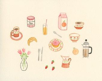 Le Petit Déjeuner - Art Print