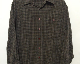 Vintage Black/Grey/Gold Check Shirt