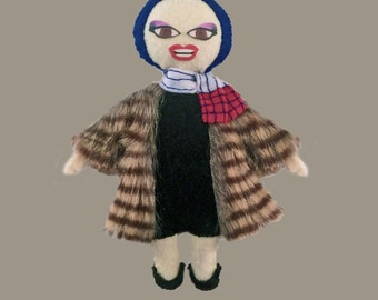 Jinkx Monsoon as Little Edie Felt Doll Rupaul's Drag Race
